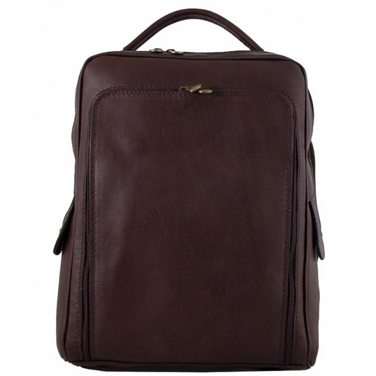 Kožený batoh MI902 tmavohnedý Made in Italy