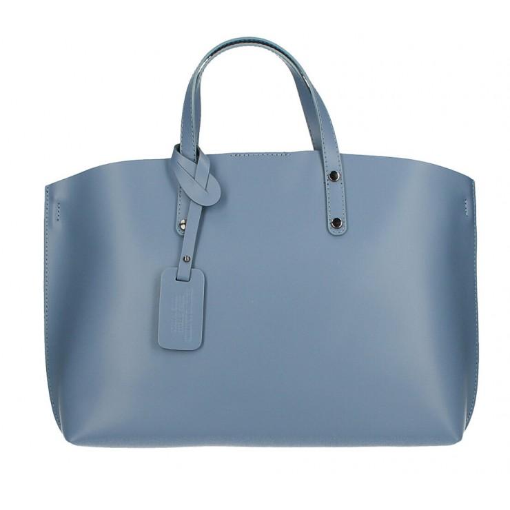 Genuine Leather Handbag 530 ceruleo MADE IN ITALY
