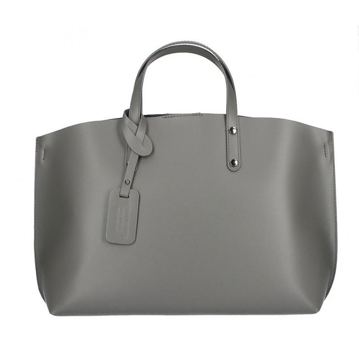 Kožená kabelka do ruky 5304 tmavě šedá MADE IN ITALY