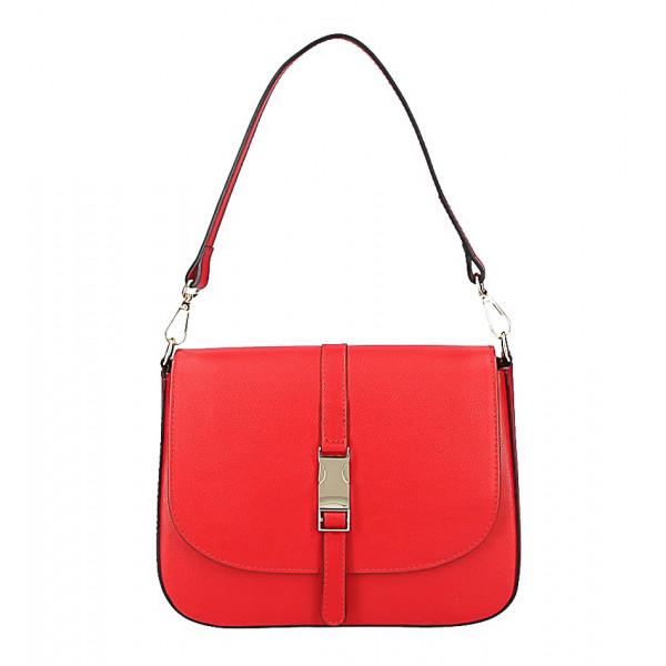 adf14bdcb4 Červená kožená kabelka na rameno 589 - MONDO ITALIA s.r.o.