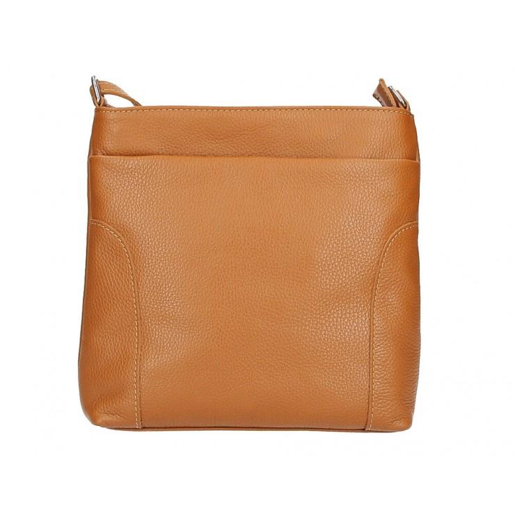 Genuine Leather Handbag MI1162 cognac Made in Italy