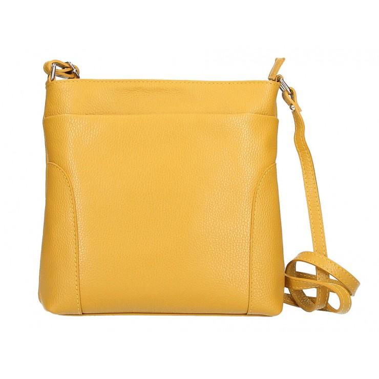 Genuine Leather Handbag MI1162 mustard Made in Italy