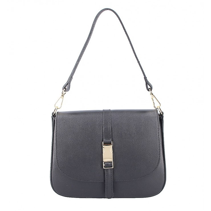 Leather Handbag 589 black