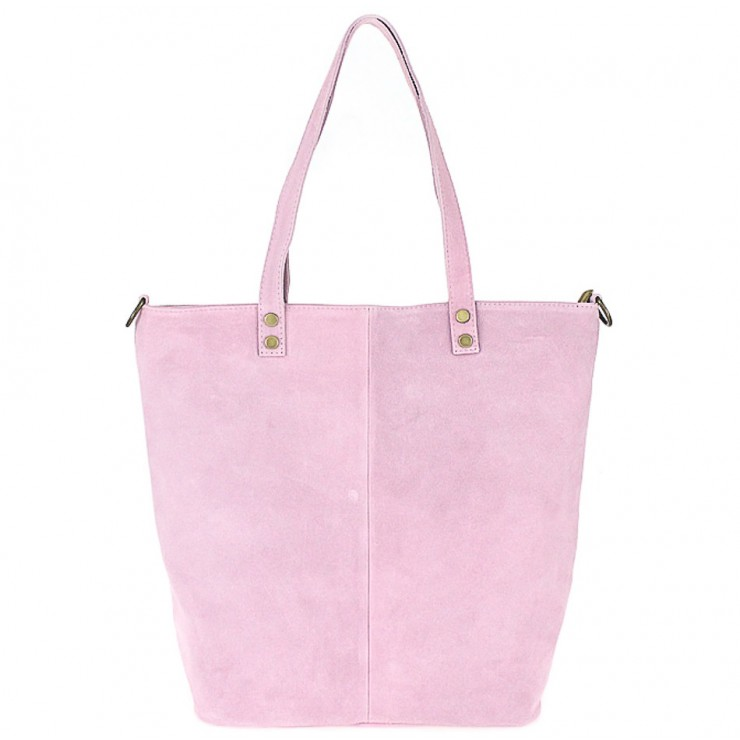 Genuine Leather Maxi Bag 768 pink