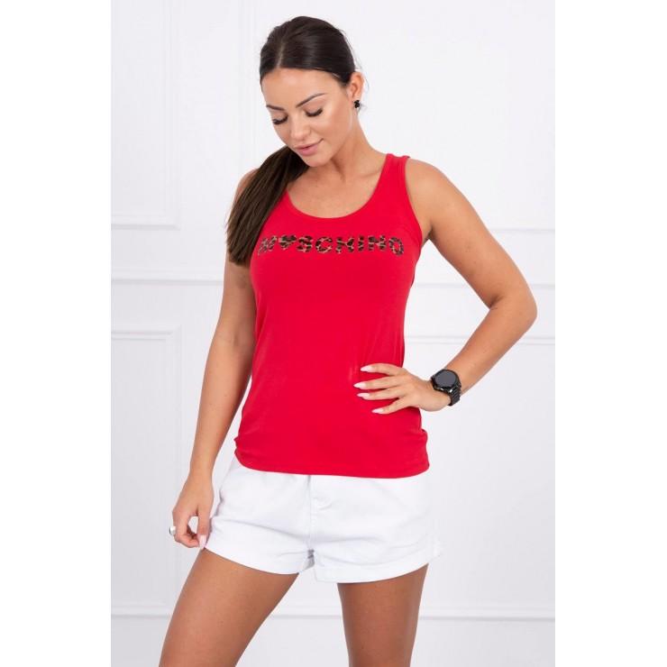 Damen-Träger Shirt rot Moschino