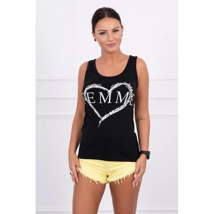 Damen-Träger Shirt schwarz Femme