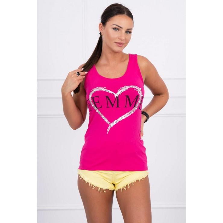 Damen-Träger Shirt fuchsie Femme