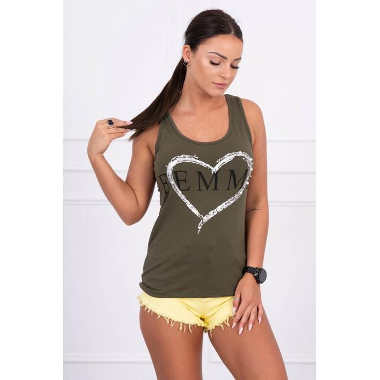 Damen-Träger Shirt grün Femme