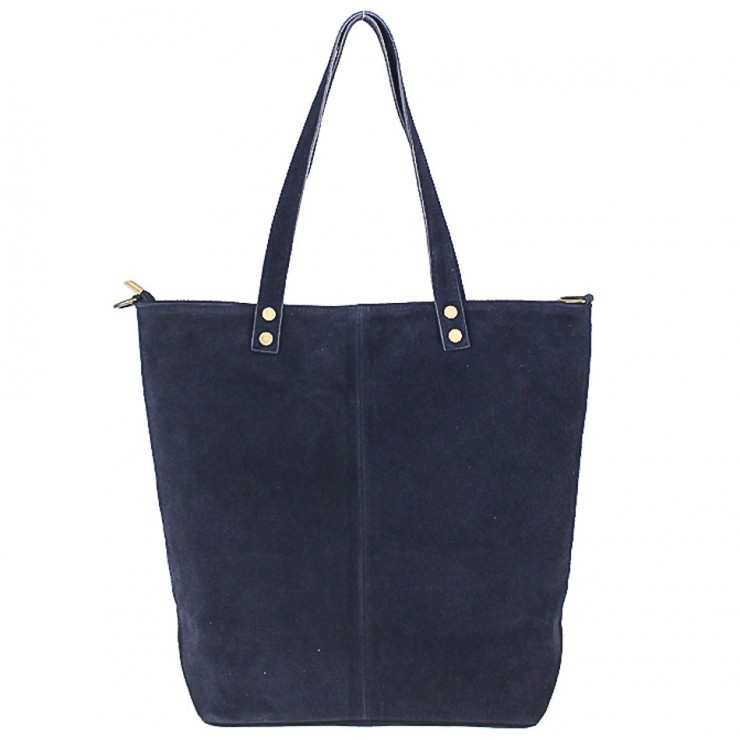 Genuine Leather Maxi Bag 768 blue