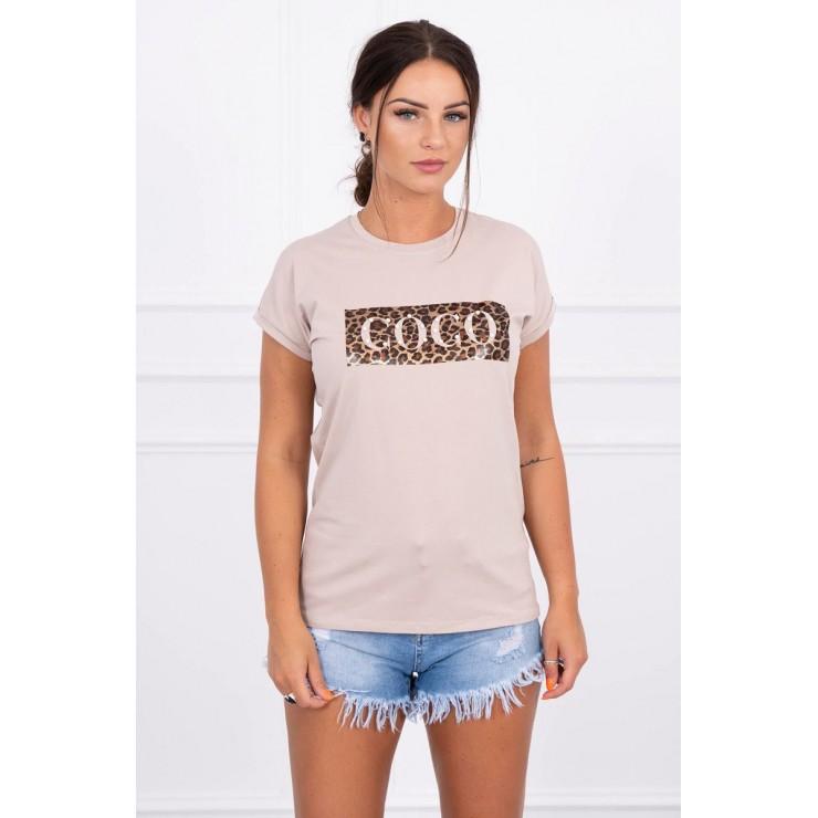 Frauen-T-Shirt COCO beige