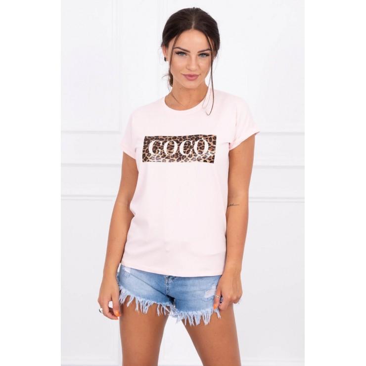 Dámske tričko COCO pudrová ružová