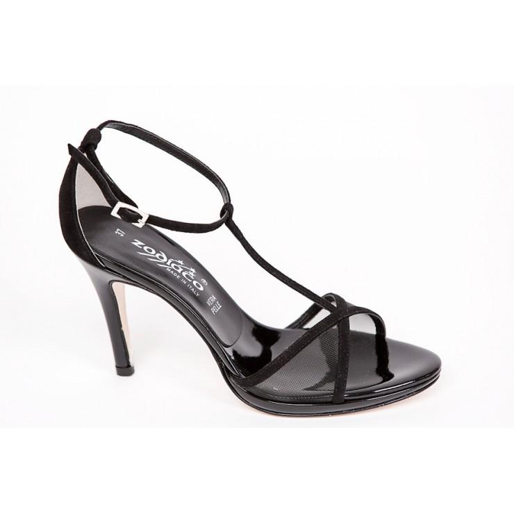 Čierne sandále 1225 ZODIACO