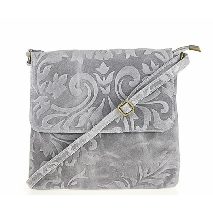 Genuine Leather Shoulder Bag 656 dark gray