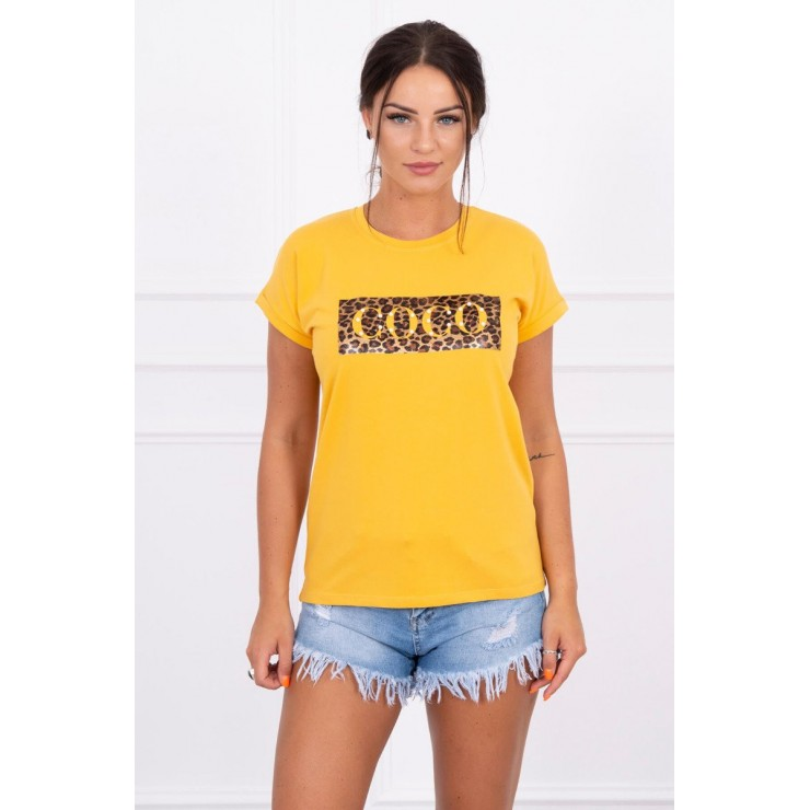 Frauen-T-Shirt COCO senf