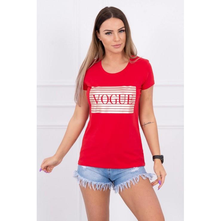 Frauen-T-Shirt SILVER VOGUE rot