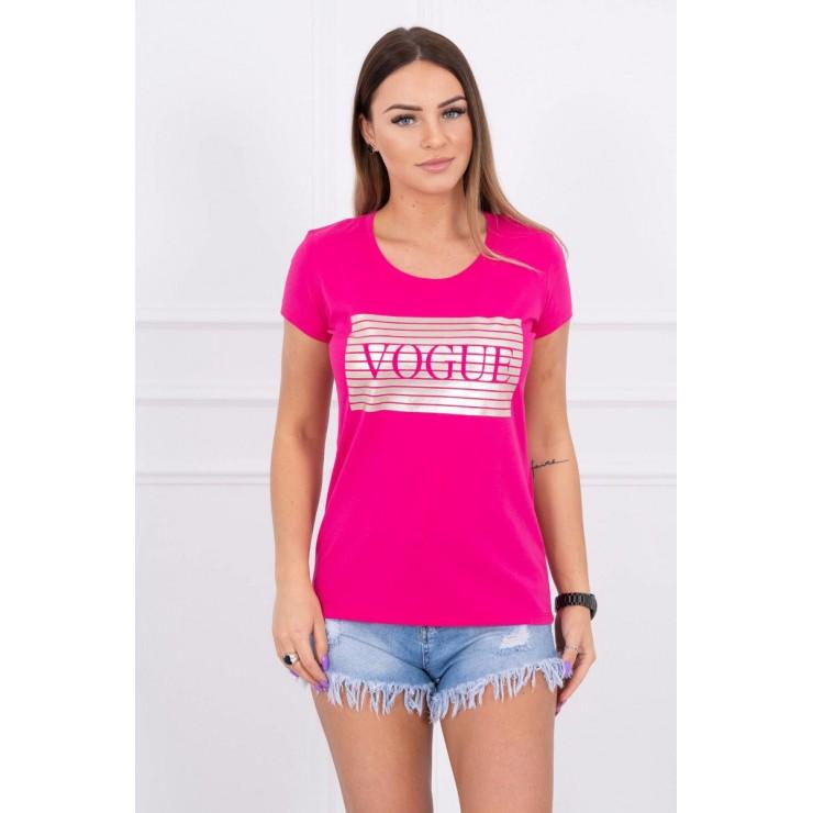 Frauen-T-Shirt SILVER VOGUE fuchsie