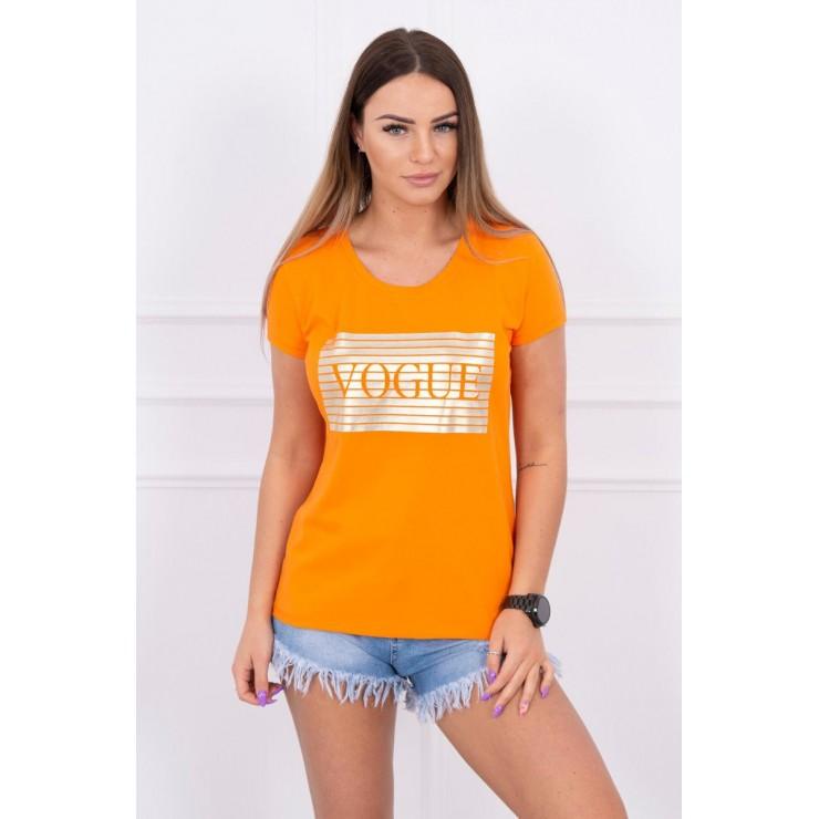 Frauen-T-Shirt SILVER VOGUE orange MI8983