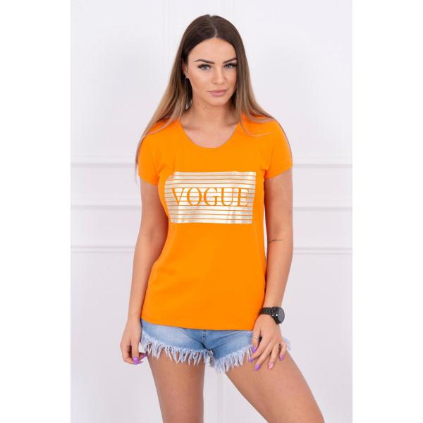 Frauen-T-Shirt SILVER VOGUE orange