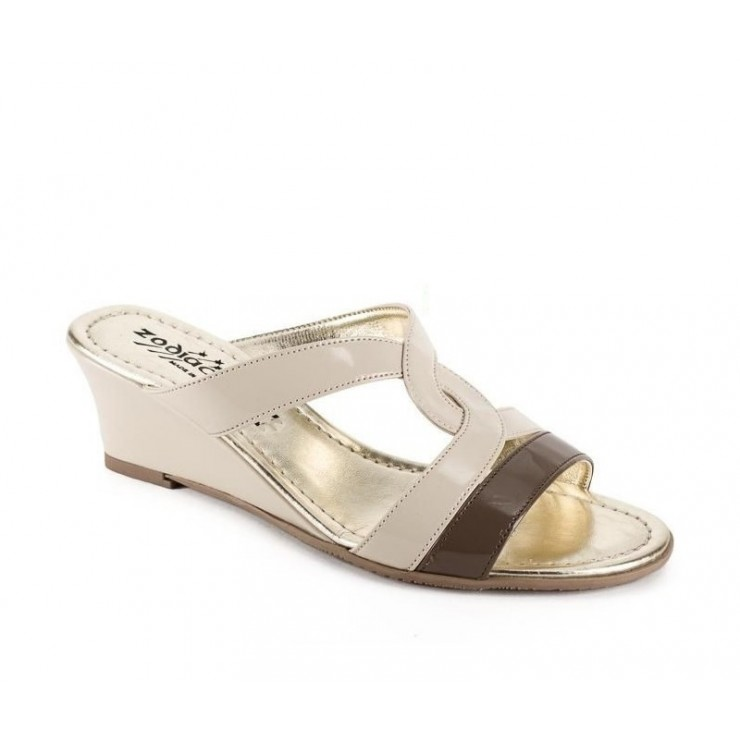 Woman slippers 1135 beige ZODIACO