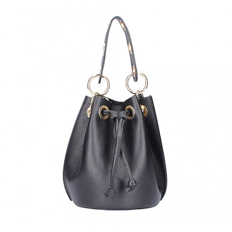 Genuine leather bucket bag 5319 black