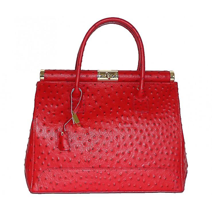 Červená kožená kabelka do ruky 501