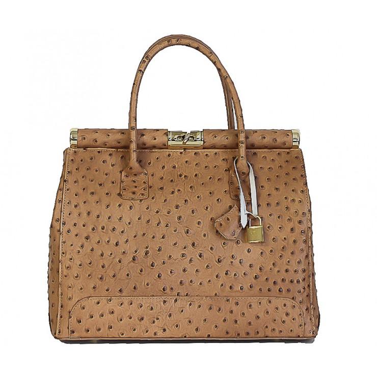 Genuine Leather Handbag 501 taupe