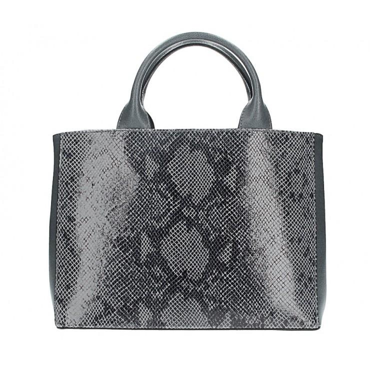 Genuine Leather Handbag 5087 dark gray