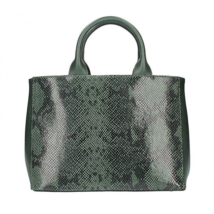 Genuine Leather Handbag 5087 dark green