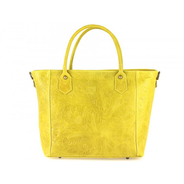Talianska kožená kabelka 405 žltá