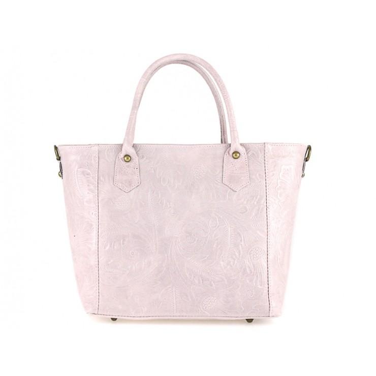 Talianska kožená kabelka 405 ružová
