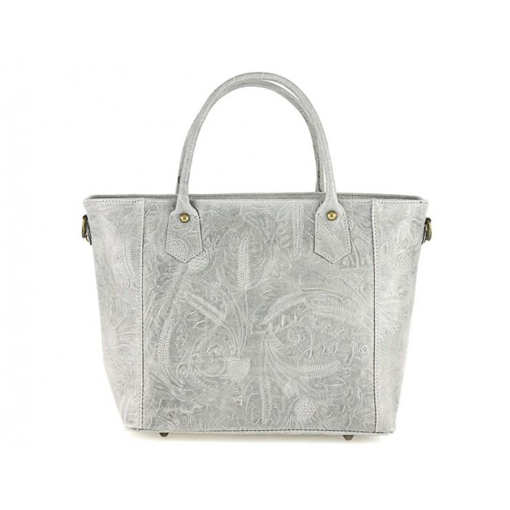 Talianska kožená kabelka 405 šedá