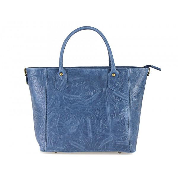 Talianska kožená kabelka 405 jeans
