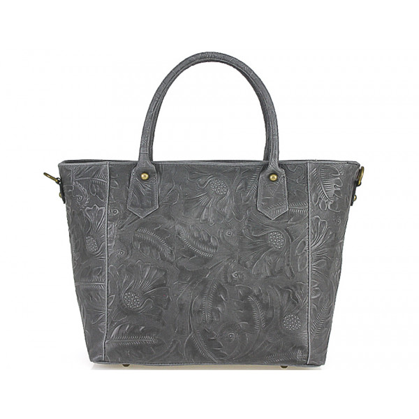 Talianska kožená kabelka 405 tmavošedá