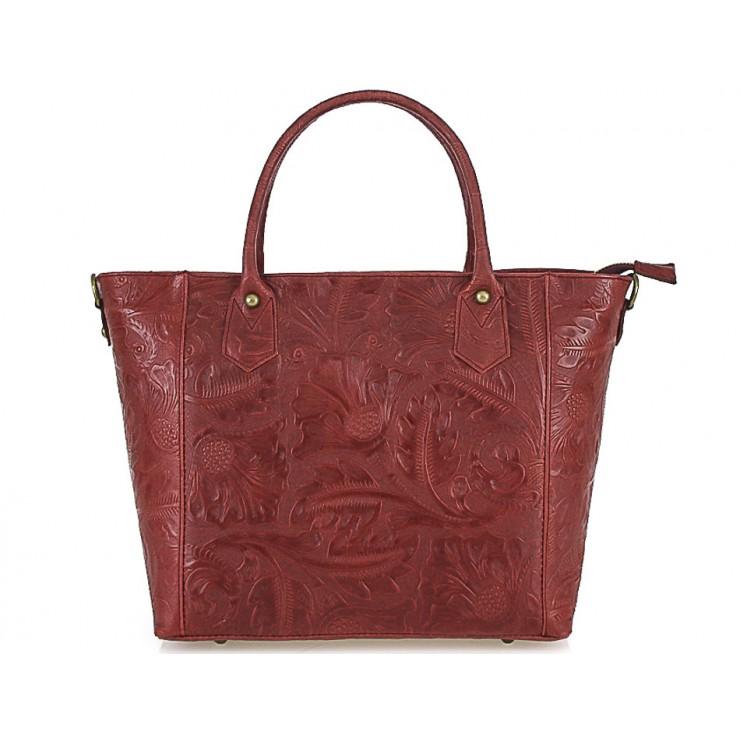Talianska kožená kabelka 405 červená