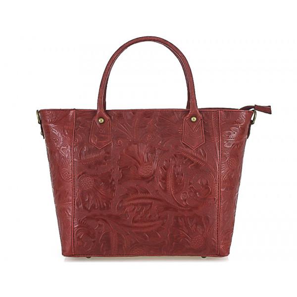 444fc9fbd8 Talianska kožená kabelka 405 červená - MONDO ITALIA s.r.o.