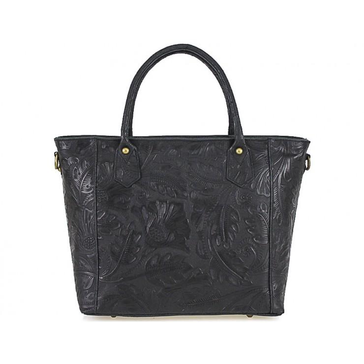 Talianska kožená kabelka 405 čierna