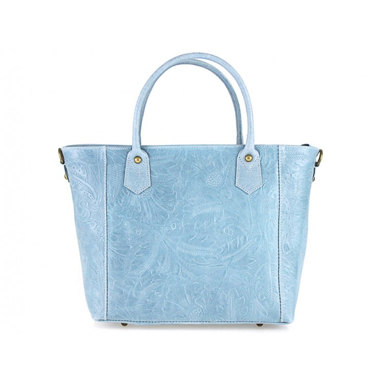 Talianska kožená kabelka 405 nebesky modrá