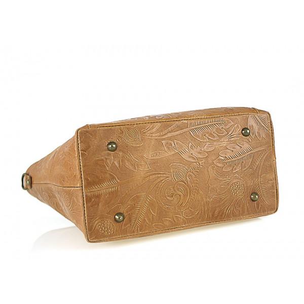 345ba107c3 Talianska kožená kabelka 405 nebesky modrá - MONDO ITALIA s.r.o.
