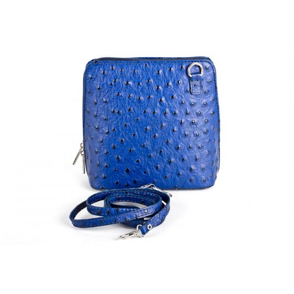 Kožená kabelka na rameno 603 azurovo modrá