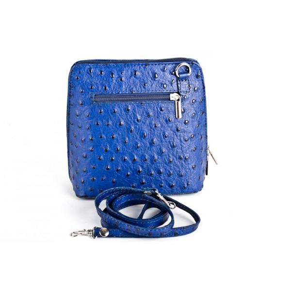 Kožená kabelka na rameno 603 azurovo modrá Modrá