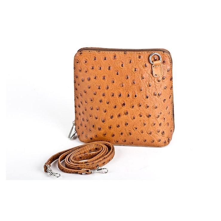 Kožená kabelka na rameno 603 koňak