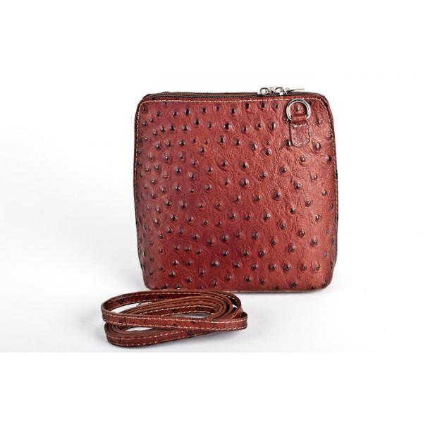 Kožená kabelka na rameno 603 hnedá