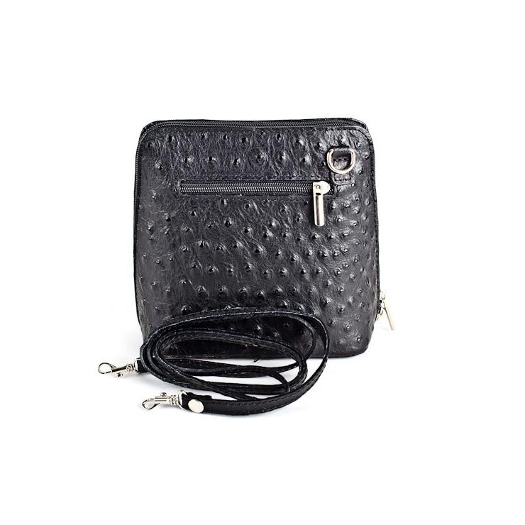 Kožená kabelka na rameno 603 černá