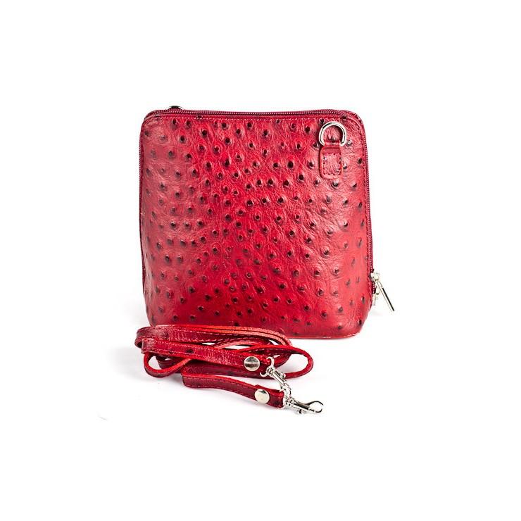 Kožená kabelka na rameno 603 červená