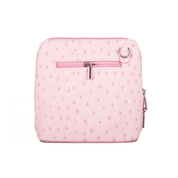 Kožená kabelka na rameno 603 ružová