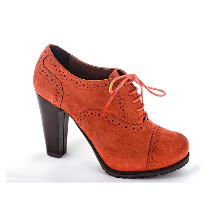 Women's shoes 811 brick Elisa Morelli