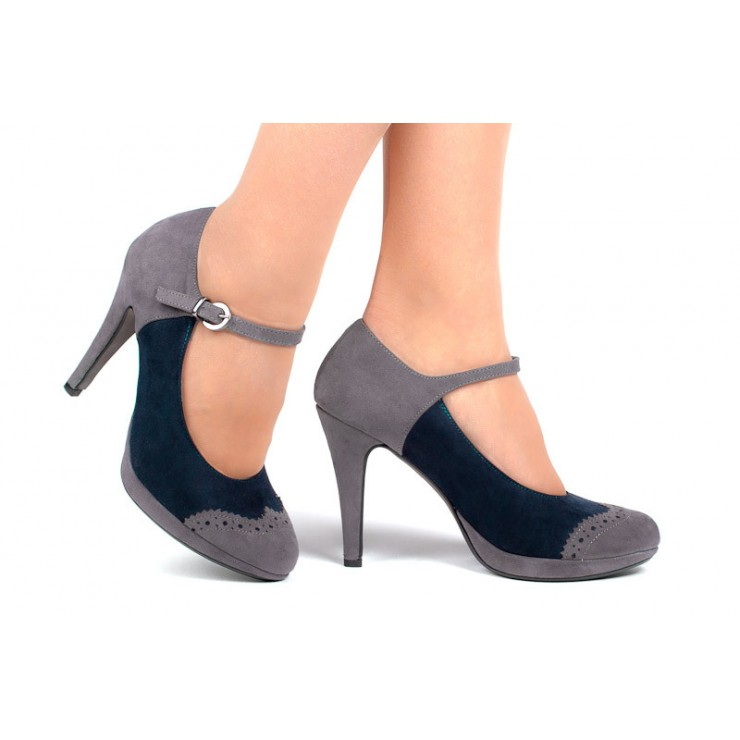 Woman high heels 229 blue Alisia Milano