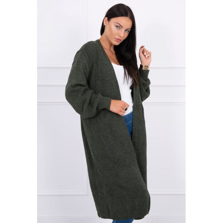 Long sweater MI2019-2 dark green