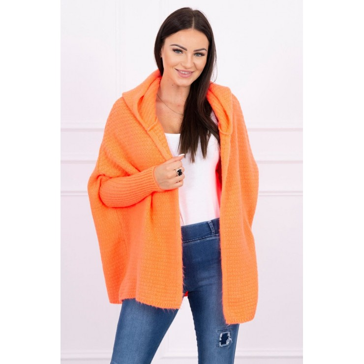 Sweater with hood and sleeves bat type MI2019-16 apricot