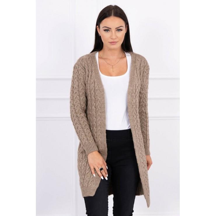 Sweater with braid pattern MI2019-14 cappuccino